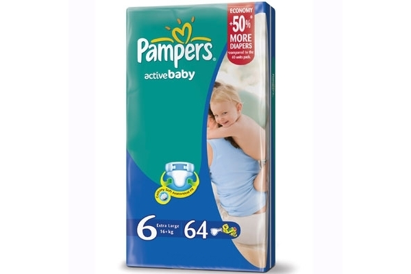 Подгузники Pampers Active Baby Giant 16+ кг, 64 шт